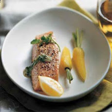 Steamed Salmon with Watercress Sauce