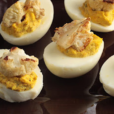 Vadouvan-Spiced Deviled Eggs with Roasted Cauliflower and Mint Recipe
