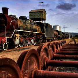 Wheels by Robert Johnson - Transportation Railway Tracks ( railroad, train, tracks )