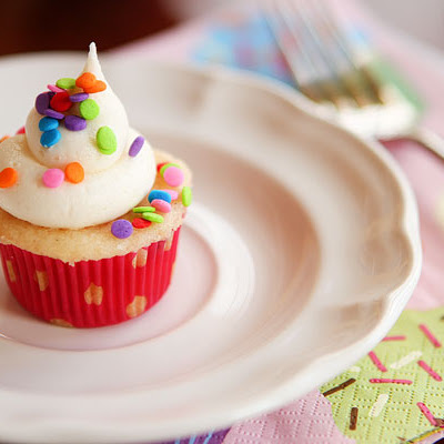 Mini Funfetti Cupcakes with Sprinkles