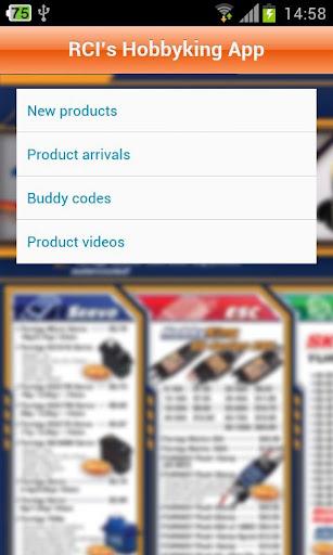 RCI's Hobbyking App