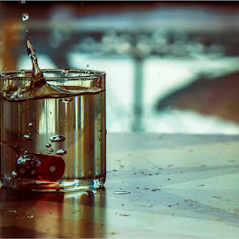 Dicey Drink ! by Bhupendra Giri - Food & Drink Alcohol & Drinks ( dice, splash, drink, glass, drops )