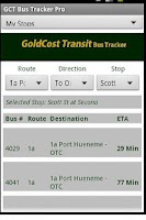 Screenshot of Gold Cost Transit Bus Time Pro