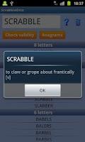 Screenshot of Scrabble & Words WF Helper