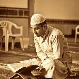 Reciting Holy Quran by Danny Ugaddan - People Portraits of Men ( #islam #quran #masjid )
