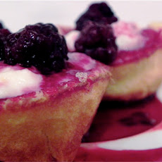 Pancake Cups With Ricotta, Lemon, And Blackberry