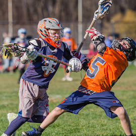 Determined to drive to the goal. by Keith Kijowski - Sports & Fitness Lacrosse ( turkey shoot out fca lacrosse 2021 roc 2014 ithaca, ny )