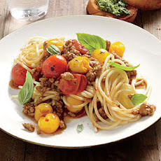 Pasta with Roasted-Tomato Meat Sauce