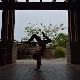 Shadow gymnast by Sarah Graff - Sports & Fitness Other Sports ( gymnastics girl summer handstand )