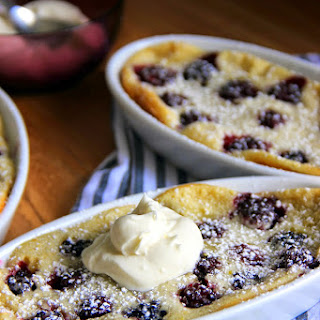 Baked Blackberry Crepe Cobbler