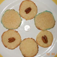 Sugared Danish Butter Cookies with Pecan Halves