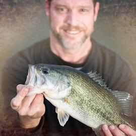 fishin' by Joe Faherty - People Portraits of Men