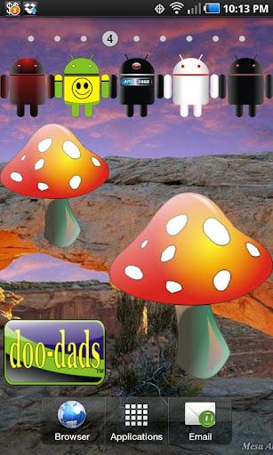 Mushroom doo-dad red yell