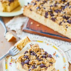 Peanut Butter Honey Buttermilk Cake with Chocolate-Peanut Butter Streusel