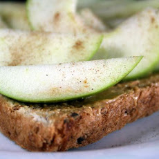 Peanuty Apple Toast
