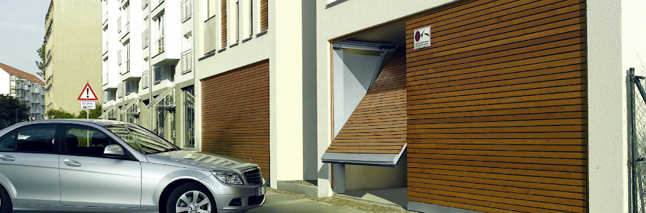 Car and Open Garage Door