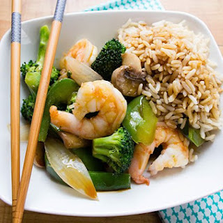 Skinny Shrimp Stir Fry