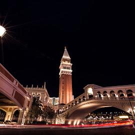 Night in Vegas by Koustav Dutta - City,  Street & Park  Night ( las vegas, street, low light, night, travel, Urban, City, Lifestyle )