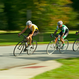 The Chase by Roy Walter - Sports & Fitness Cycling ( fitness, cycling, sports, race, panning., bicycle )