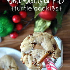 Sea Salt & Peanut Butter Turtle Cookies