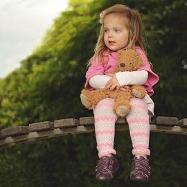My best friend Teddy by Lucia STA - Babies & Children Child Portraits