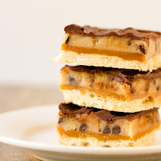 Chocolate Chip Cookie Dough Billionaire Bars
