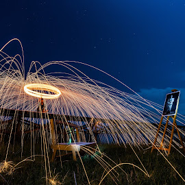 by Thet Zaw Nyunt - Abstract Fire & Fireworks ( path, nature, landscape )