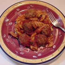 Crock Pot Meatballs & Penne in Red Sauce