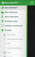 Screenshot of SUBWAY® SUBCARD™ Deutschland