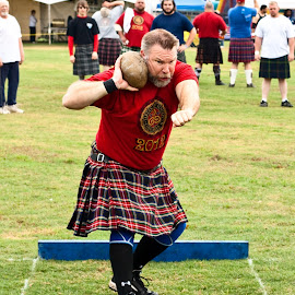 Scottish Stone Thrower by Phillip Campbell - Sports & Fitness Other Sports ( highland, games, tradition, sports, scottish, heritage,  )