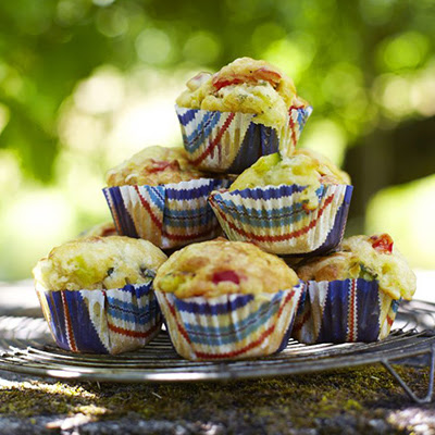 Brie, Courgette & Red Pepper Muffins