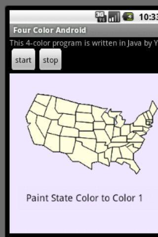 四色問題:以美國本土48州地圖為例