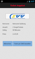 Screenshot of ScotDroid ÖBB Fahrschein Lite