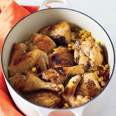 Chicken and Rice with Corn and Sun-Dried Tomatoes