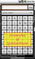 Screenshot of SymbolsPanel Builder
