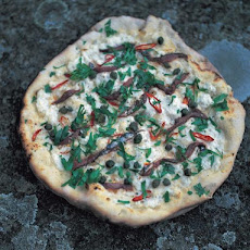 Mozzarella, Anchovies, Chilli, Capers & Parsley Pizza Topping