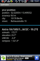 Screenshot of SatFinder