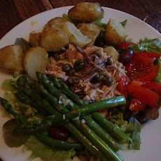 Tuna Nicoise Salad with Parmesan