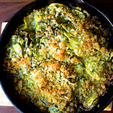 Summer Squash Gratin With Salsa Verde