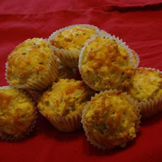 Cheesy Bacon Cheddar-Topped Muffins