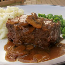 Blue Plate Meat Loaf With Mushroom Pan Gravy