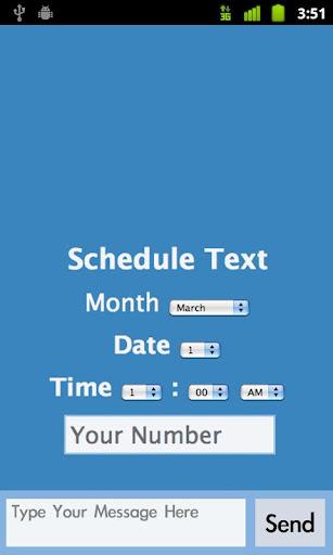 Schedule SMS Text
