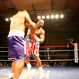 Oliver McCall in action. by Stephen Jones - Sports & Fitness Boxing
