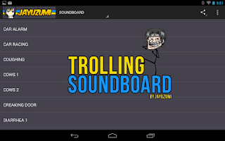 Screenshot of SOUND EFFECTS SOUNDBOARD