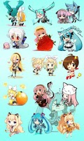 Screenshot of Chibi Vocaloid Battery Widget