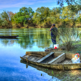 Chrashed boat after flood by Oliver Švob - Transportation Boats ( canon, kupa, croatia, fishing, boat, fisherman, wooden boat, river )