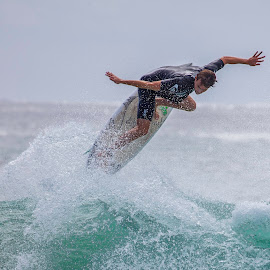 Surfing Action by Sue Niven - Sports & Fitness Surfing ( surfing, surfer, gold coast, waves, man )