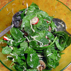 Spinach Salad With a Bit of a Kick