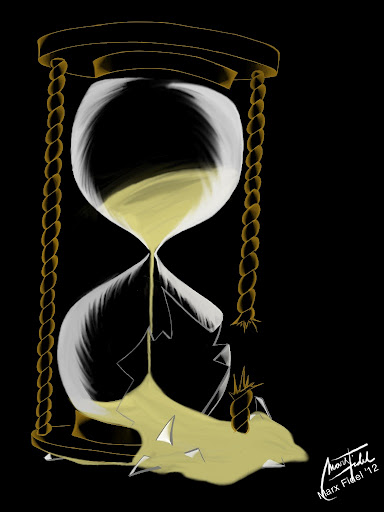 Broken hourglass  A Broken Hourglass by MFidel