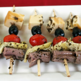 Beefy Antipasto-On-A-Stick
